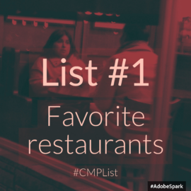 List 1: Favorite Restaurants