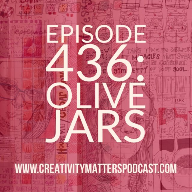 Episode 436 Olive Jars title with illustrated journal under it