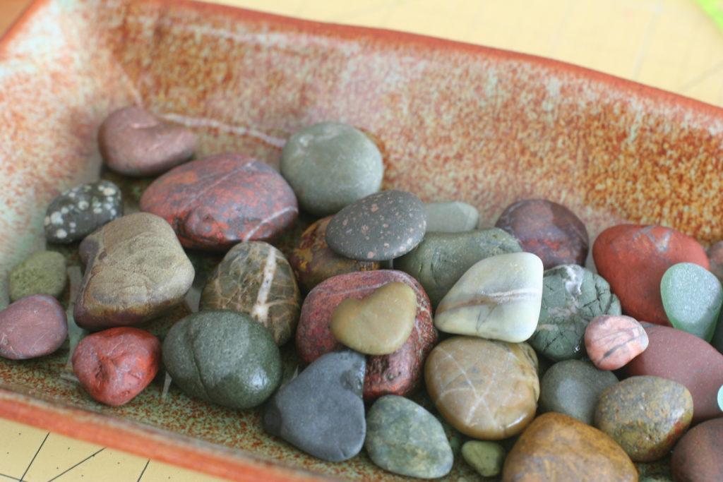 Rocks (in dish)