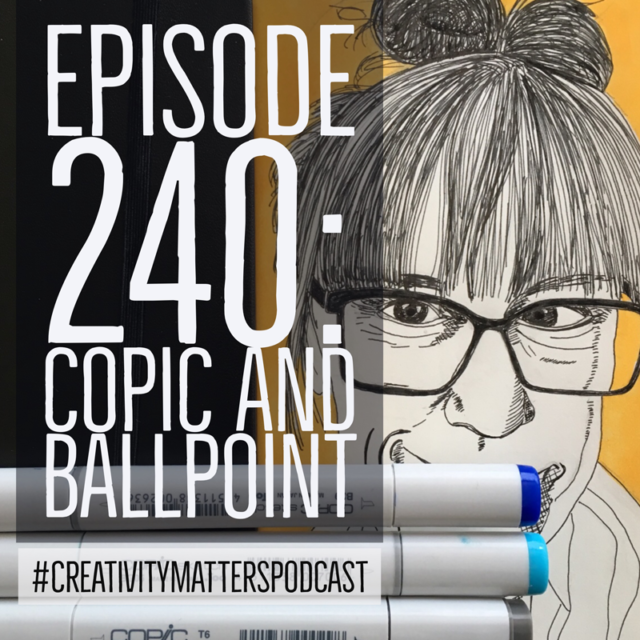 Episode 240 - sketch with Copic background