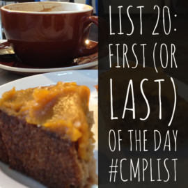 CMP List Challenge 20 - First or last of the day